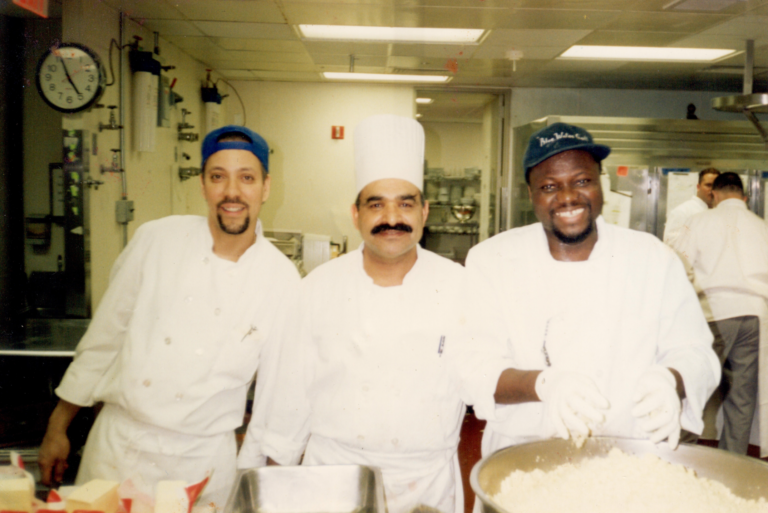 Junior, Ali and Karim. Ali survived, but both Junior and Karim perished on 9/11.